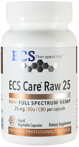 ECS Care® RAW 25mg (30 Liquid Vegetable Caps)